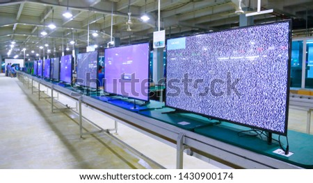 LED and LCD TV production  #1430900174