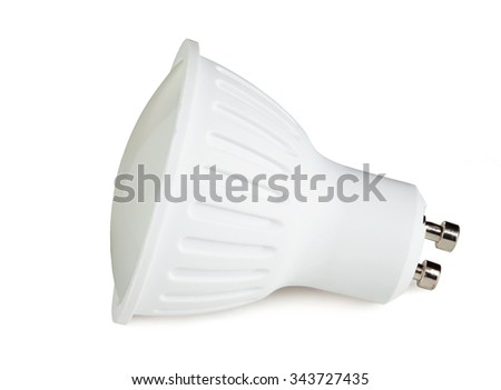 LED bulb isolated on white with clipping path #343727435