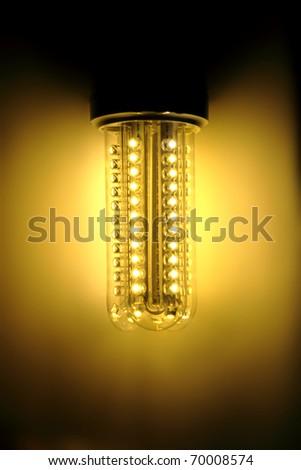 led bulb light in the dark night