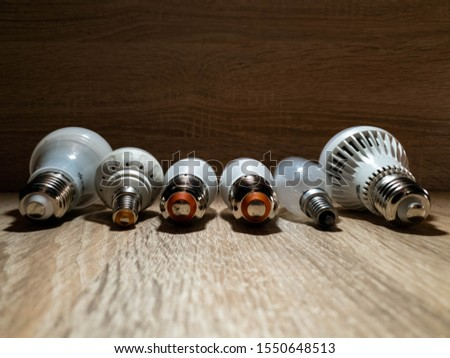 LED bulbs. A set of light bulbs. LED energy-saving light bulbs. #1550648513