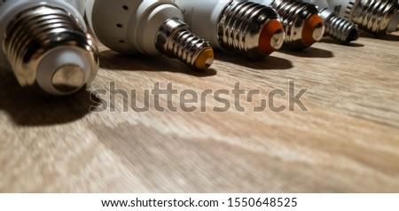 LED bulbs. A set of light bulbs. LED energy-saving light bulbs. #1550648525