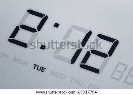 LED Digital Clock close up for background use