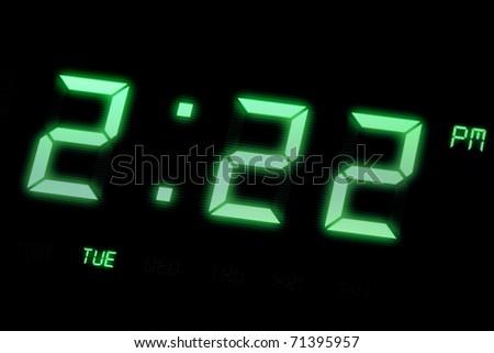 LED Digital Clock close up for background use - stock photo