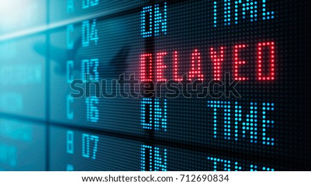 LED Display - Airport flight status board (Photo + 3D Rendering) Сток-фото ©