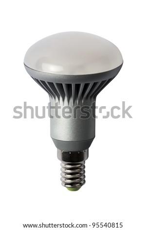 LED energy saving bulb. Light-emitting diode. Isolated object