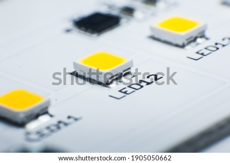 LED Lamp Chip. LED Diode. LED lamp close-up. Stockfoto ©