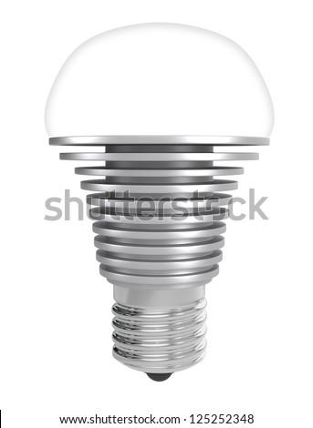 LED lamp mounted in  E27 socket - stock photo