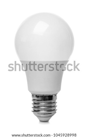 LED lamp on white background #1045928998