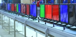 LED LCD TV factory production, LED LCD TV manufacturing and testing lab