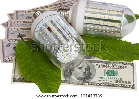 Led light  and dollars