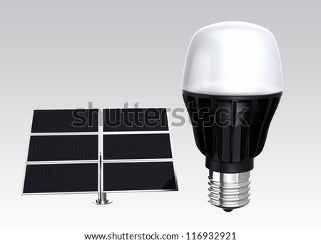 LED light and solar panel