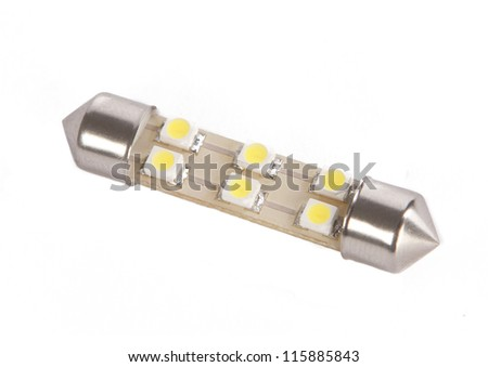 LED light bulb from a car