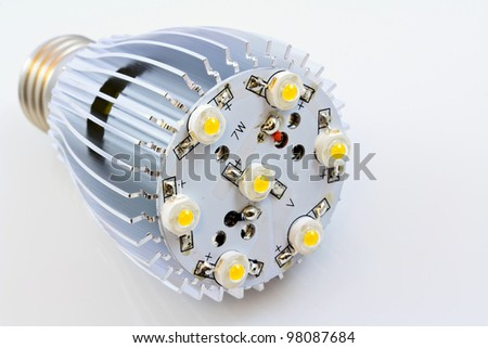 LED light bulbs with 1 Watts SMD chips without cover glass
