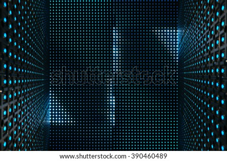 Led light digital Pattern Technology system Abstract background #390460489
