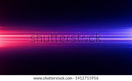 Led Light.  Future tech. Shine dynamic scene. Neon flare. Colorful rays. 