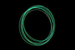 LED light move circle on long exposure shot in the dark.
