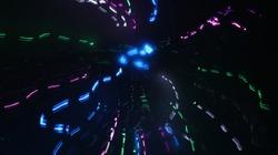 LED lighting design style for love symbols, night lights, drawing with LED lights,Storm of Light