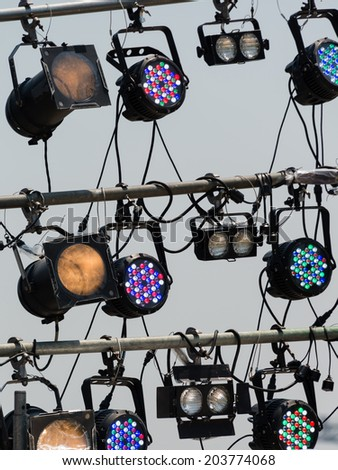 LED lighting equipment of an outdoor stage