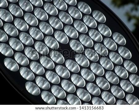 LED lighting illuminates the building.( Close-up ) #1413156683