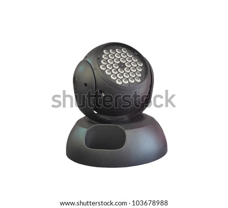 led lighting moving head for event and concert stage on isolated background