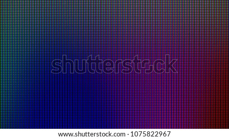 Stock Photo LED lights from computer monitor screen display panel for graphic website template. electricity or technology idea concept design.