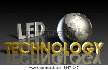 LED Modern Technology Abstract as a Concept