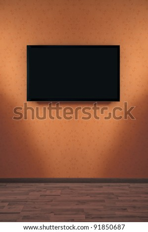 LED Plasma TV on a wall