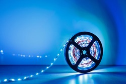 led strip blue light roll