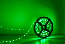 led strip green light roll