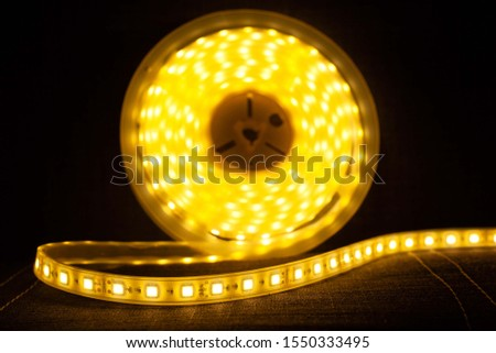 LED tape illuminate ,lighting for lockers, niches, for home and office.diode strip.