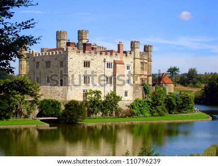 leeds castle, united kingdom - stock photo