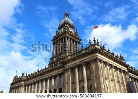 Leeds - city in West Yorkshire, UK. City Hall building.
