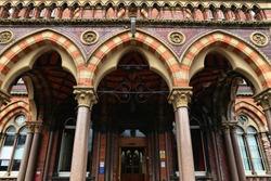 Leeds city landmark, UK. Leeds General Infirmary - old hospital architecture. Listed building.