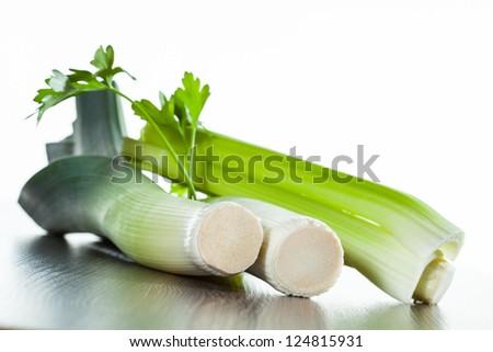 Leek and parsley - healthy summer food