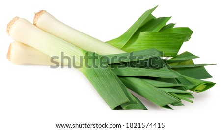 leek isolated on white background. with clipping path. full depth of field Сток-фото ©