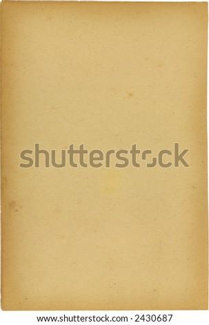 Leerseite von einem späten Buch 1800 - stock photo