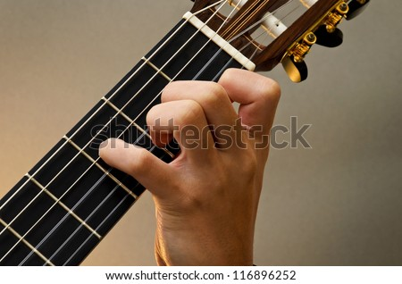 Free photos Left Hand Position Basic Chord of Classic Guitar / A+ ...