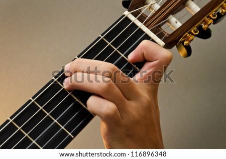 Guitar Chord Am Ez Canvas