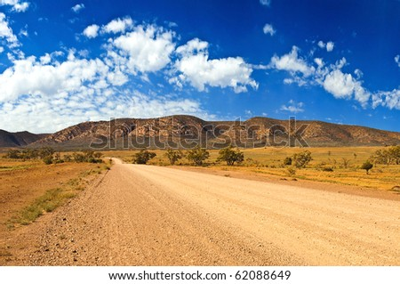 Left turn in the outback