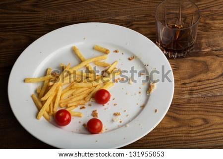 leftover food  after lunch