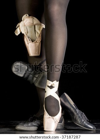 Leg and dance shoes