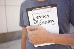 Legacy Planning is shown on the conceptual business photo