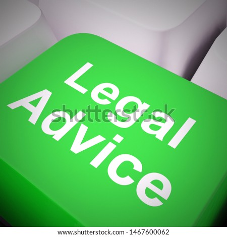 Legal advice concept means getting defence from a lawyer or Counsel. Consultation and guidance from an expert - 3d illustration