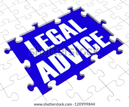 Legal Advice Puzzle Showing Attorney Counseling Or Consultation