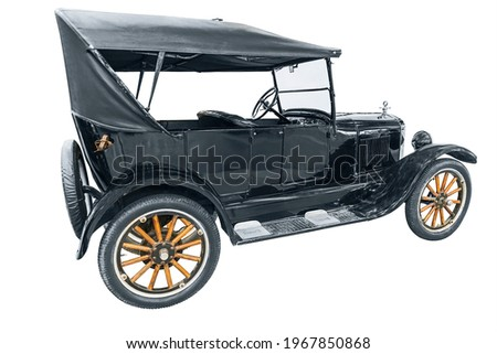 legendary American car Ford T, isolated on white background Zdjęcia stock ©