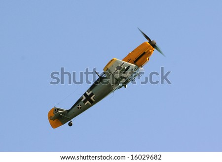 Legendary fighter airplane Me-109 used by Germany in World War II