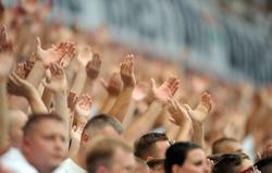 Legia Warszaw Football fans