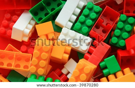 Lego background - color - abstract