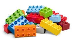 Lego, brick, isolated.