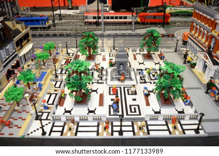Lego collections exhibition at September 09, 2018 in Budapest, Hungary. #1177133989